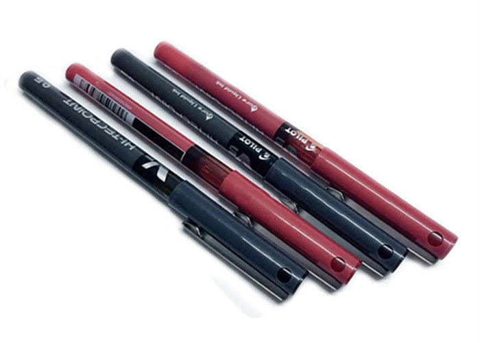 Water Based Semi Permanent Tattoo Pen Manual Tattoo Pen With Black , Red Color
